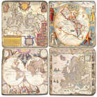 Old Maps Marble Coasters