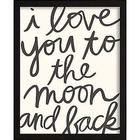 Personalized Love You to the Moon and Back Framed Art
