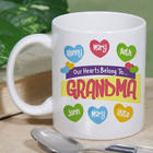 Our Hearts Belong To Personalized Coffee Mug in White