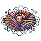 Mexican Sun Forged Iron Welcome Sign