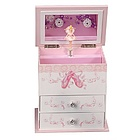 Angel Girl's Musical Ballerina Jewelry Box with Drawers
