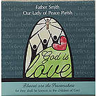 God is Love 12x12 Personalized Canvas Wall Art