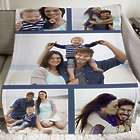 Custom Photo Collage Fleece Throw Blanket