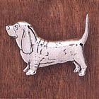 Handcrafted Basset Hound Pin