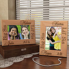 Personalized Sorority Lil' Sis & Big Sis Wooden Picture Frame