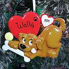 Personalized Dog Heart Ornament
