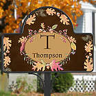 Autumn Hues Personalized Garden Stake