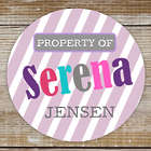 Girl's Personalized Property of Stickers