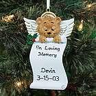 Personalized Angel Bear Memorial Ornament