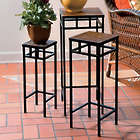 Meridian Slate Nesting Plant Stands