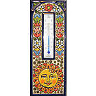 Handmade Spanish Thermometer Tile