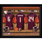 Personalized Virginia Tech Locker Room Print