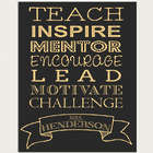 Teach - Inspire Personalized Chalkboard Style Sign