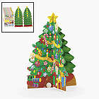 Cardboard 3-D Christmas Trees and Stickers Set