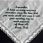 """Precious Memories"" Personalized Wedding Day Hanky"
