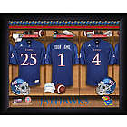 Personalized Kansas Jayhawks Locker Room Print