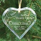 Engraved Memorial Heart Ornament
