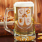 Custom Crest Personalized Beer Mug