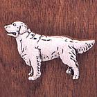 Handcrafted Golden Retreiver Pin