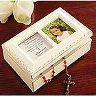 Personalized Communion Ivory Music Box