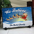 Personalized We Believe Christmas Stone