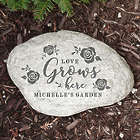 Personalized Love Grows Here Family Garden Stone