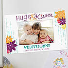 Hugs and Kisses Personalized Photo Magnet Frame