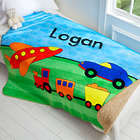 Boy's Personalized Sherpa Blanket