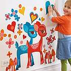 Deer-est Friends Kids Valentine's Wall Stickers