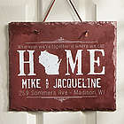 State of Love Personalized Slate Plaque
