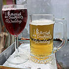 I Survived My Daughter's Wedding Wine Glass and Beer Mug Set