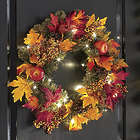 Fall Apple and Pine Lighted Wreath