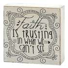 Faith Is Trusting In What We Can't See Scripture Sign