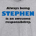 Custom Name Awesome Responsibility T-Shirt