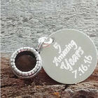 Anniversary Personalized Engraved Charm Bead