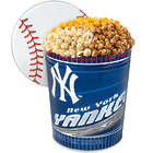 3 Gallons of Popcorn in New York Yankees Tin