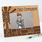 First Communion Stained Glass Personalized Picture Frame