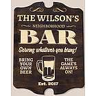 Personalized Beer Arch Pub Plaque Findgift Com