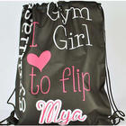 Personalized Drawstring Gymnastic Tote
