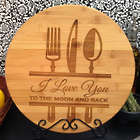 I Love You to the Moon and Back Personalized Cutting Board