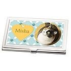 Cat Photo Business Card Holder