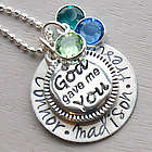 God Gave Me You Personalized Hand Stamped Necklace