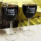 I Survived My Son's Wedding Wine Glass Set