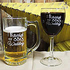 I Survived My Son's Wedding Wine Glass and Beer Mug Set