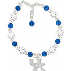 Kentucky Wildcats Round Crystal Bracelet