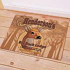 Personalized Big Buck Lodge Doormat