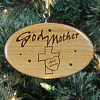Personalized Godmother Wooden Oval Ornament