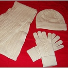 Cashmere Scarf, Hat & Gloves Set