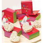 6 Happy Valentine's Day Popcorn Heart Greeting Cards