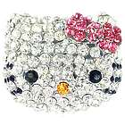 Cute Crystal Kitty Adjustable Ring